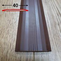 Противоскользящая резиновая накладка плоская самоклеющаяся 0.9 м., Коричневый