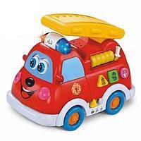 Развивающая обучающая музыкальная игрушка Пожарная машинка