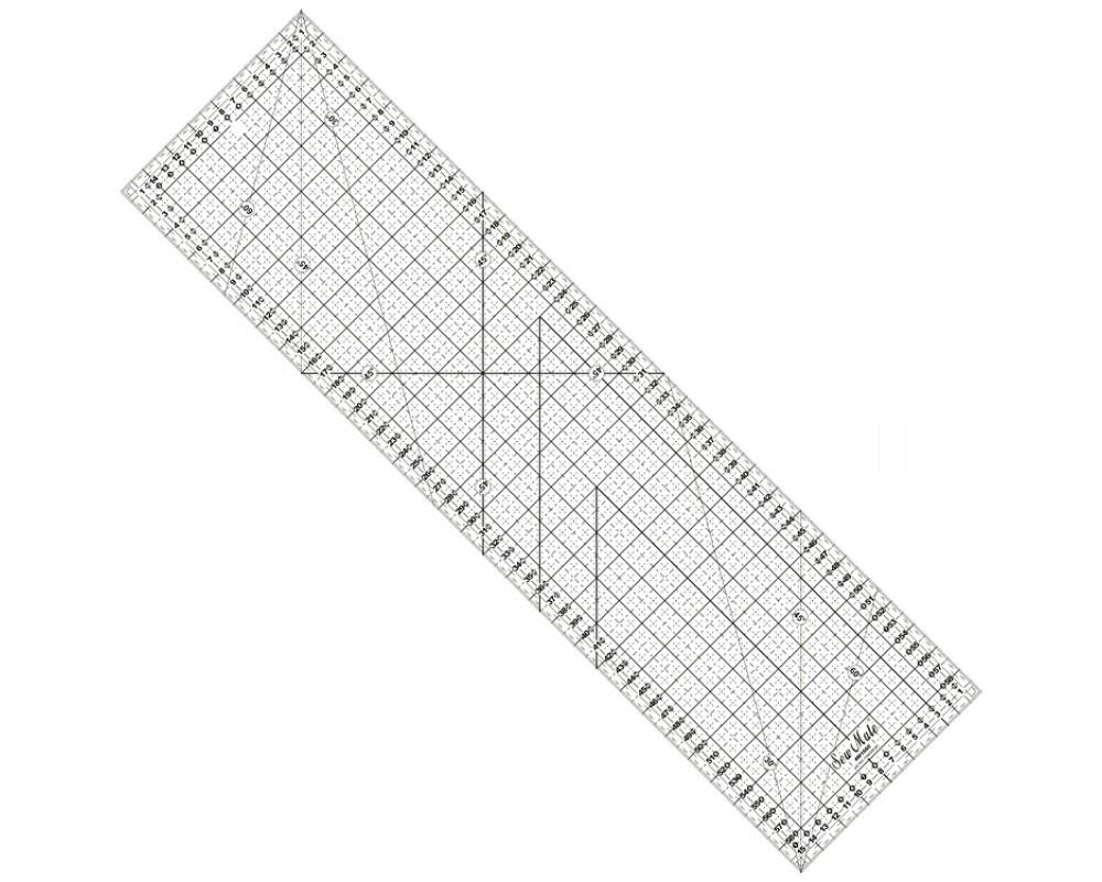 Линейка для пэчворка Sew Mate M1660-BK (16 x 60 см)