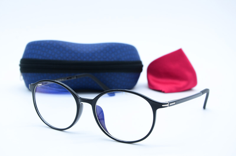 Женские круглые имиджевые черные очки 3069