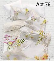 """Комплект постельного белья ALTINBASAK Сатин 3D """"abt 79"""" Евро"""