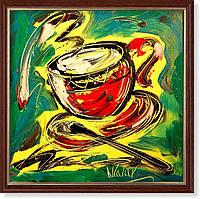 Репродукция  современной картины «Время кофе II»