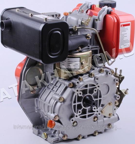 Двигатель дизельный Tata 186F (9 л. с., вал шлицевой Ø25)