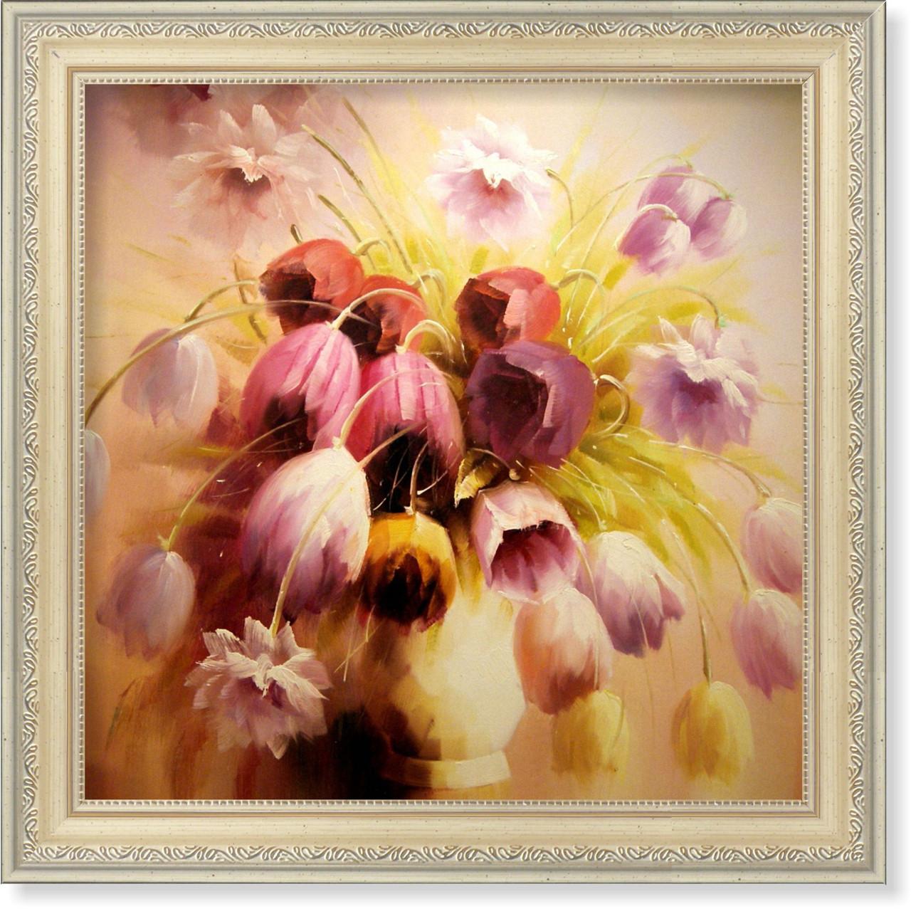 Репродукция  современной картины «Тюльпаны»