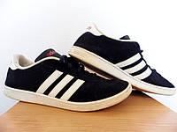Мужские кроссовки Adidas Vlcourt 100% Оригинал р-р 46 (29,5 см)  (б/у,сток) original адидас синие, фото 1