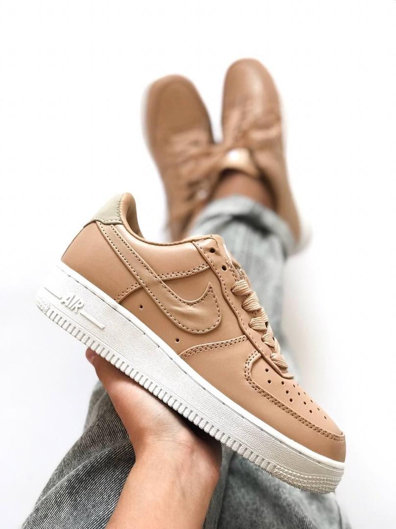Кроссовки в стиле NikeLab Air Force 1 Low Vachetta Tan White женские -  Интернет- 7e8d34f5185