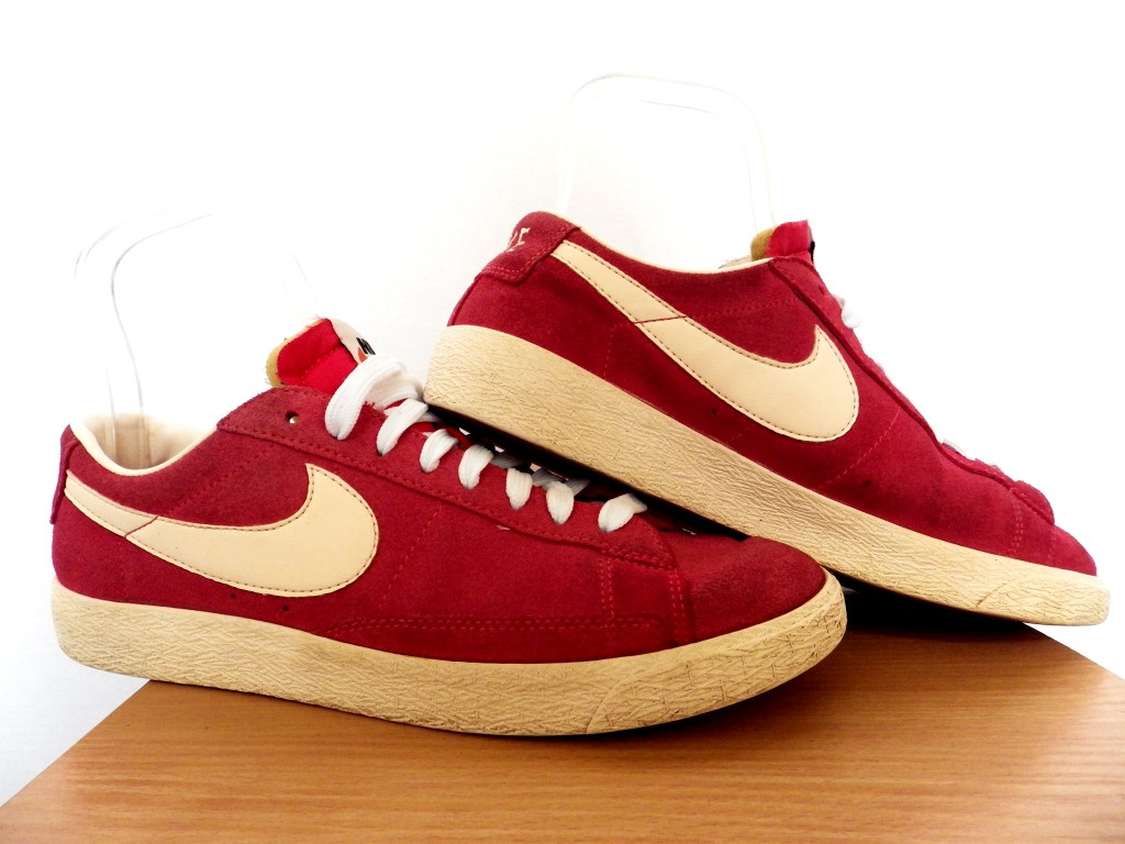 Мужские кроссовки Nike Blazer Low Suede Fusion Red 100% Оригинал р-р 41 (26 см)  (б/у,сток) original найк