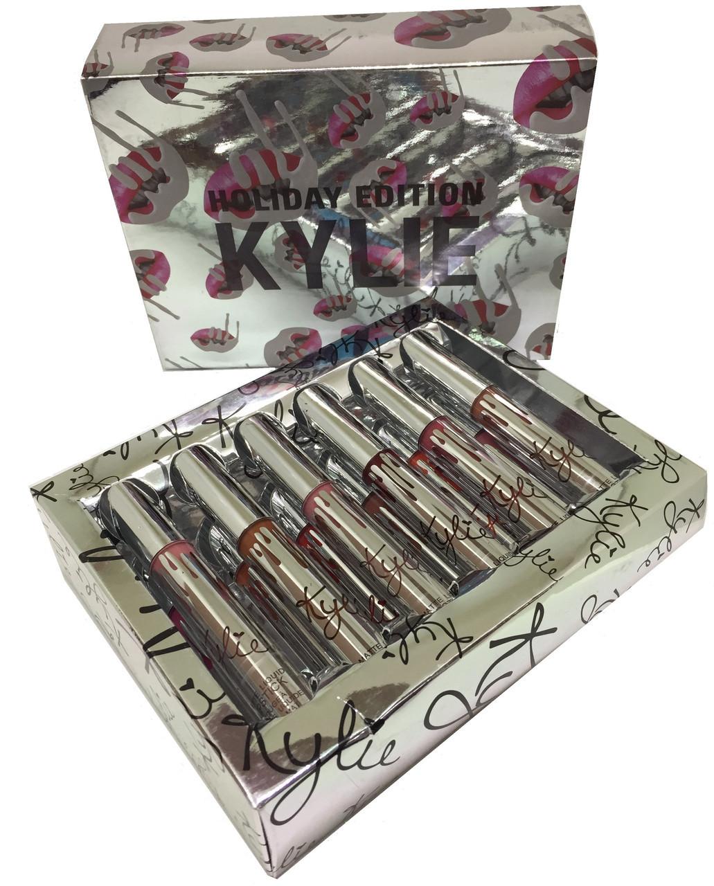 Набор жидких помад Matte Liquid Lipstick Kylie Holiday Edition 12цветов