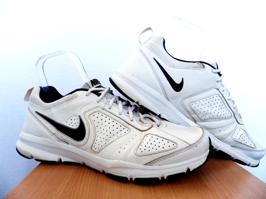 Мужские кожаные кроссовки Nike T-Lite Xi 100% Оригинал р-р 45,5 (29,5 см)  (б/у,сток) original найк белые