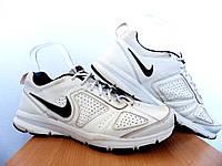 Мужские кожаные кроссовки Nike T-Lite Xi 100% Оригинал р-р 45,5 (29,5 см)  (б/у,сток) original найк белые, фото 1