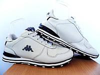 Мужские кожаные кроссовки Kappa 100% Оригинал р-р 42 (26,5 см)  (б/у,сток) original капа белые, фото 1
