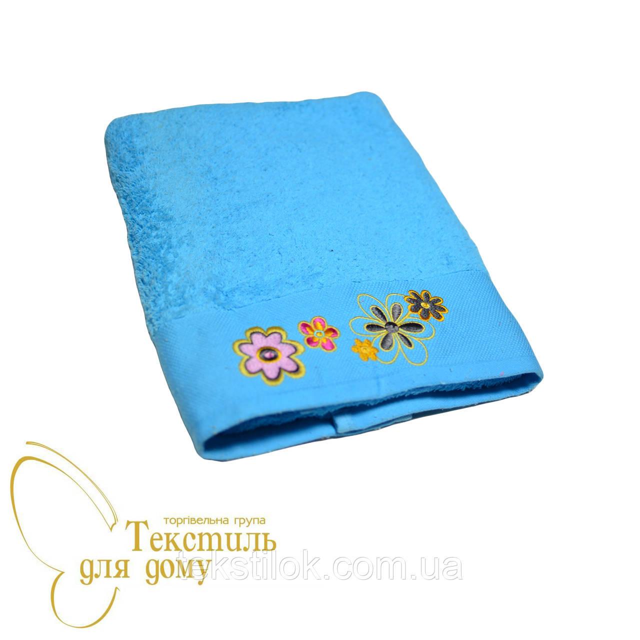 Полотенце банное 70*140 Cotton, голубой