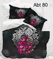 """Комплект постельного белья ALTINBASAK Сатин 3D """"abt 80"""" Евро"""