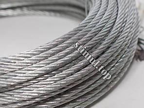 Трос оцинкованный Ø 3 мм (DIN 3055 / 6х7) | Сталеві канати оптом | Канат стальной, фото 2