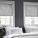 Рулонные шторы Шелк Дамаск черный, фото 3