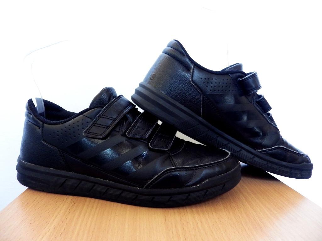 Кроссовки на липучках Adidas AltaSport CF K 100% Оригинал р-р 38 (24 см)  (б/у,сток) original адидас чёрные