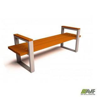 Лавка вулична з натуральної деревини Модерн AMF