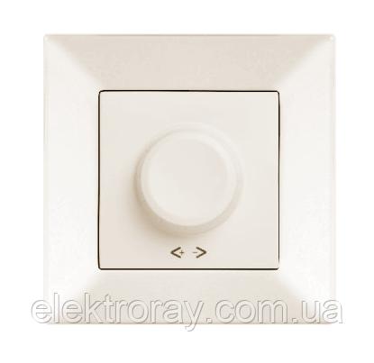 Светорегулятор, диммер 600W RL поворотный белый, крем Viko Meridian, фото 2