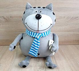 Мягкая игрушка - подушка кот Бонус ручная работа
