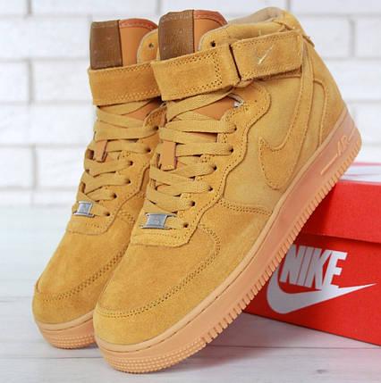 Зимние мужские кроссовки в стиле Nike Air Force 1 High c мехом ... b39c4bf86eea1