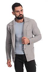 Трикотажный пиджак SVTR 54 Светло-серый 389, КОД: 274572