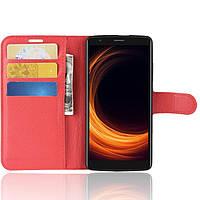 Чехол-книжка Litchie Wallet для Blackview A20 Красный