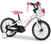 "Велосипед Trek Precaliber 16"" F/W Girl white 2019"