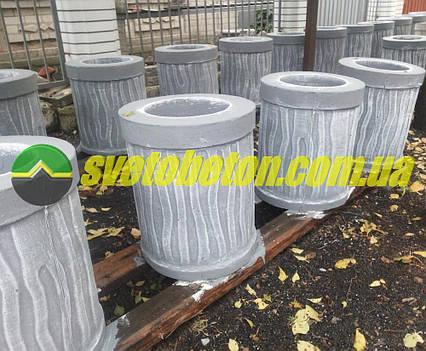 """Урна уличная бетонная для мусора недорого, стационарная из бетона для улицы красивая парковая урна """"КОРА""""."""