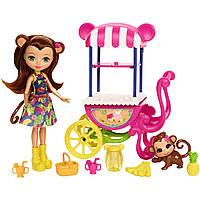 Игровой набор  Enchantimals, Enchantimals Fruit Cart Doll Set, фото 1