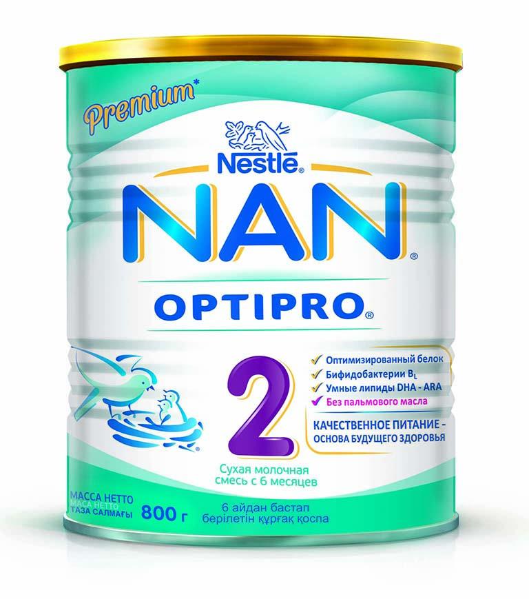 Смесь молочная NAN Optipro 2,  800 гр