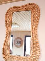 Плетеное зеркало из лозы