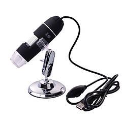 Цифровой микроскоп USB Magnifier Kronos SuperZoom 50-1000X Черный mdr1171, КОД: 145172