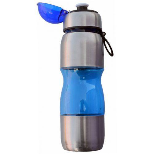 Фляга для воды алюминий-пластик 0,75л