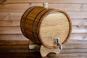 Бочка дубовая (жбан) для напитков 15 литров