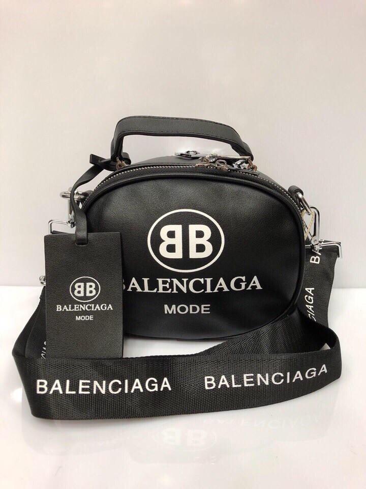 4b1bce175867 Сумка в стиле Balenciaga круглая с брелком - люкс новая модель. - Интернет- магазин