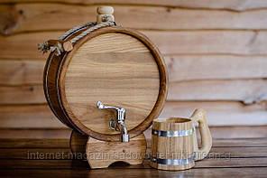 Баклага дубовая для напитков 5 литров