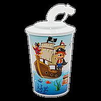 Стакан Додо с трубочкой 0,5 л пират