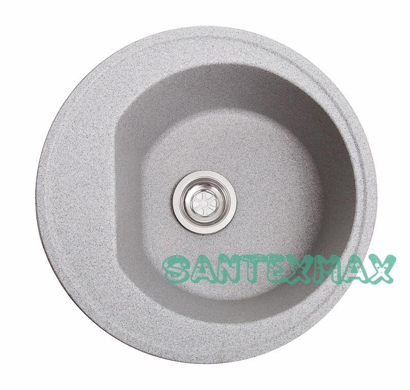 Мойка гранитная для кухни Solid Классик серый 50x50 Бесплатная доставка