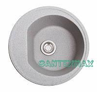 Мойка гранитная для кухни Solid Классик серый 50x50 Бесплатная доставка, фото 1