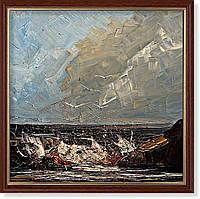 Репродукция  современной картины «У берега»
