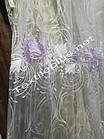Тюль органза с цветочным узором Ерика