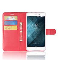 Чехол-книжка Litchie Wallet для Blackview A8 Max Красный