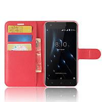 Чехол-книжка Litchie Wallet для Blackview A7 Pro Красный