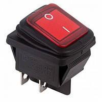 Кнопка герметическая широкая на четыре контакта с подсветкой