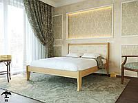 Ліжко  півтораспальне 120х200 з натурального дерева бук в спальню Монако Лев