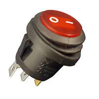 Кнопка герметическая круглая 3 pin с подсветкой  ST 717R