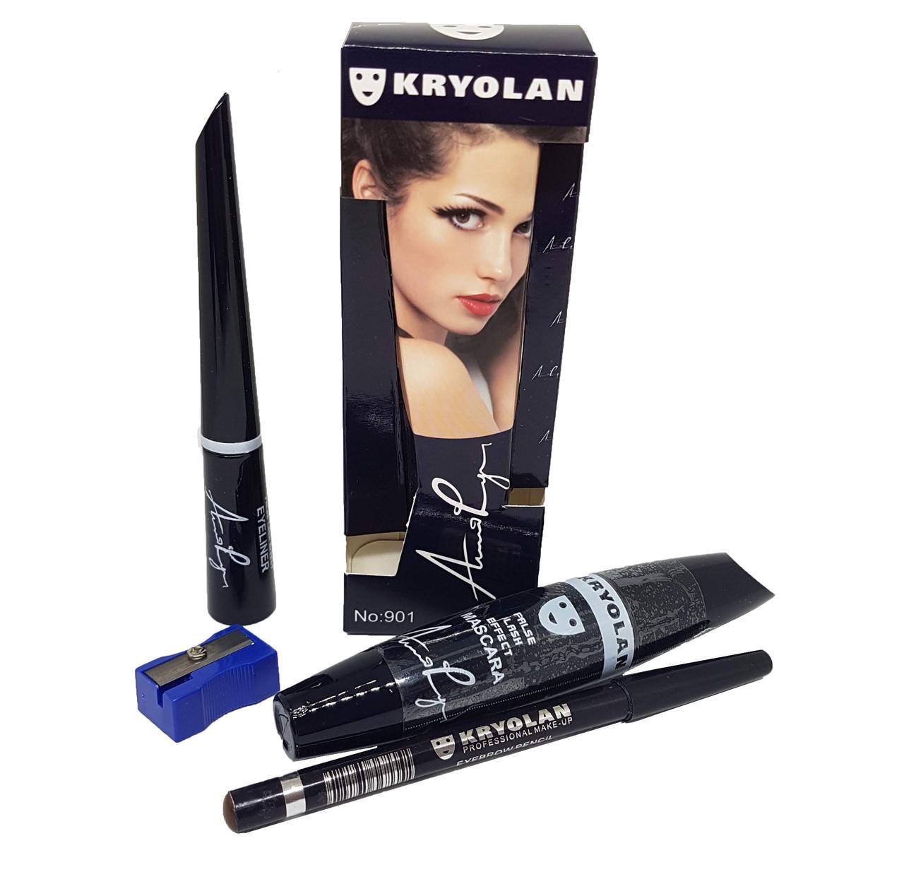 Набор для макияжа глаз Kryolan 4 в 1