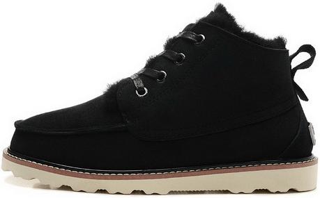 "Мужские зимние ботинки UGG David Beckham Boots ""Black"" ( в стиле УГГ )"