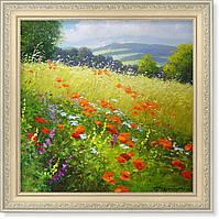 Репродукция  современной картины «Летнее поле»