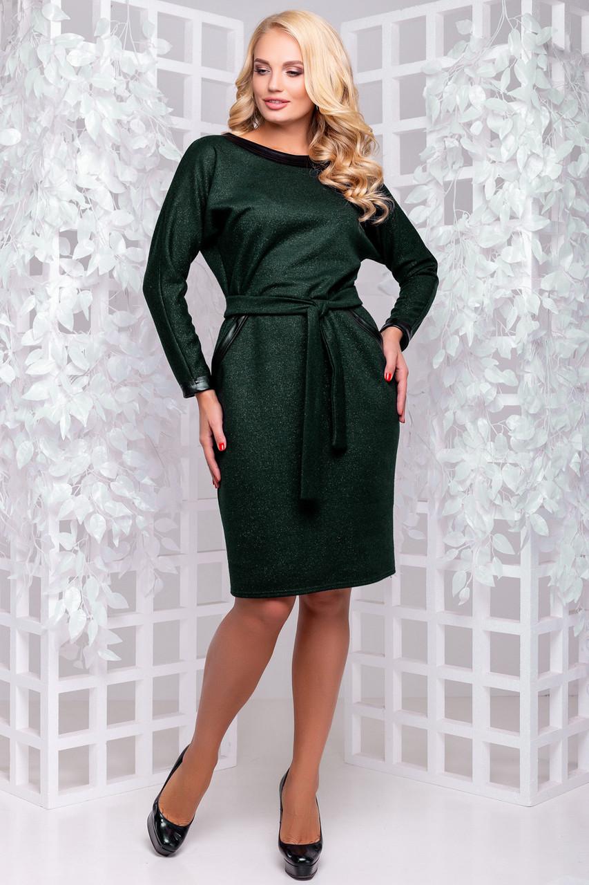 Изумрудное красивое платье 50,52р.